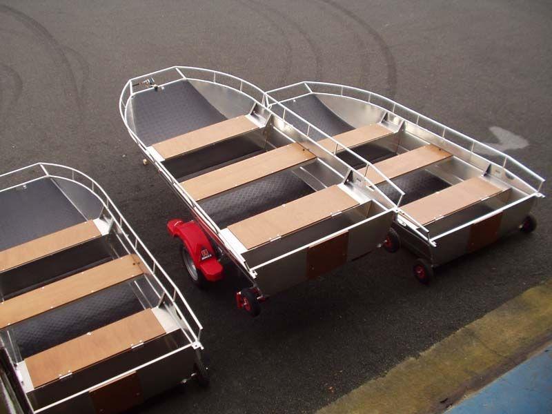 Barchetta in alluminio - panca retrattile (8)