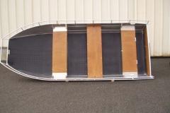 Barchetta in alluminio - panca retrattile (1)